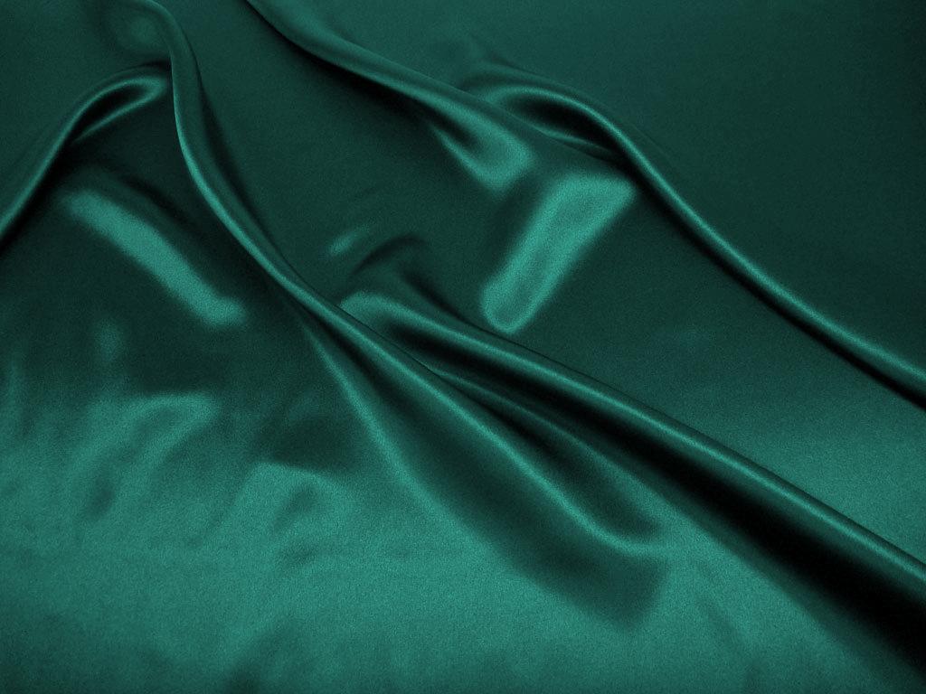 Tkanina jedwabna satyna w kolorze zielonym