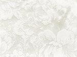 Tkanina jedwabna adamaszek mleczna biel jedwabiu, wzór kwiat peonii