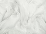 Tkanina jedwabna szyfon mgiełka mleczna biel