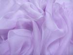 Tkanina jedwabna szyfon mgiełka ciepły lila-bez
