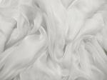 Tkanina jedwabna szyfon mgiełka jasna chłodna platyna