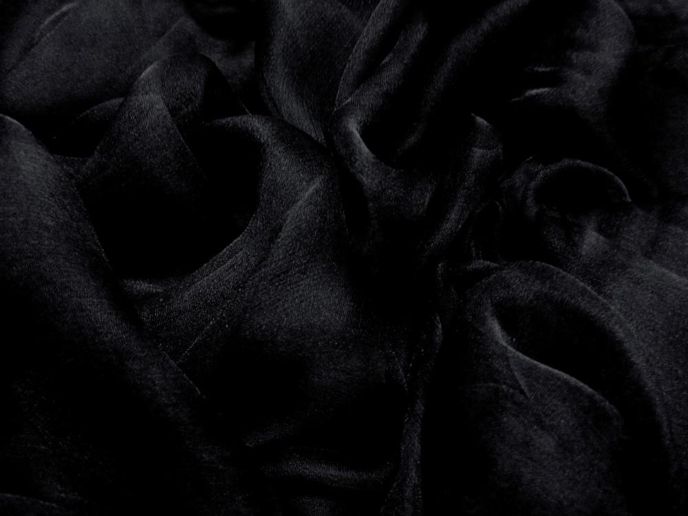 Tkanina jedwabna szyfon mgiełka w kolorze szarym